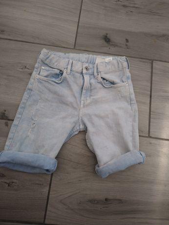 Spodenki bermudy jeansowe h&m 146