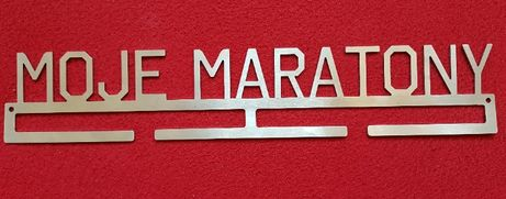 Wieszak na medale MOJE MARATONY