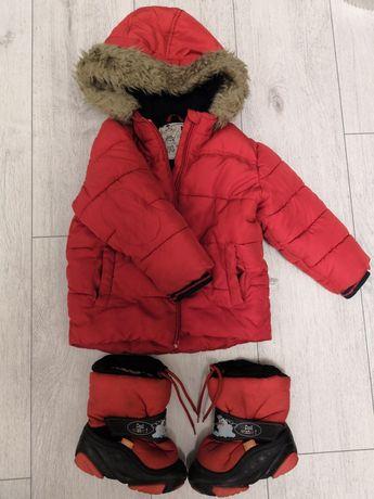 "Сапоги зимние""Demar"" , куртка"