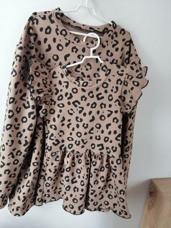 Bluza i sukienka mama i corka r. xs / S i 86/92 w stylu hm