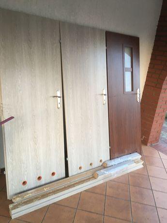 Drzwi łazienkowe lewe 70cm 3 sztuki