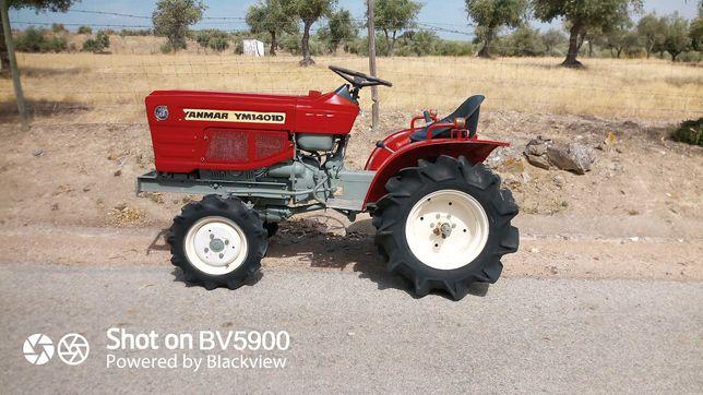 Tractor yanmar 1401 4x4 com 3 alfaias