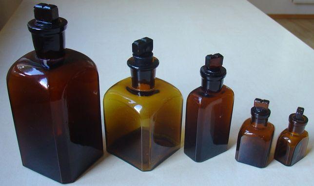 Szklane buteleczki/komplet/XX w