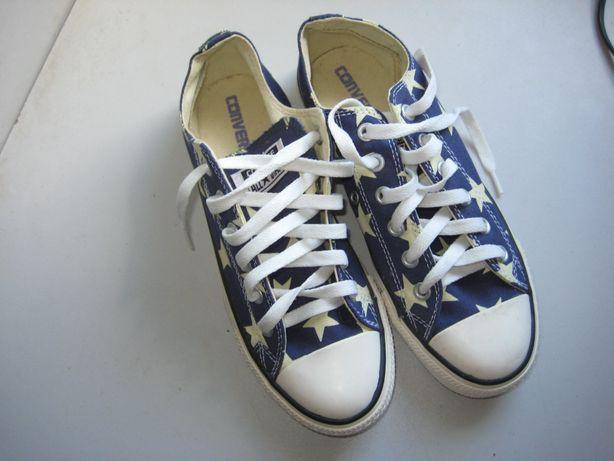 Синие текстильные кеды, кроссовки converse all star, 38-39 размер. ори