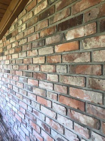 Płytki z cegły * cięta cegła * lico