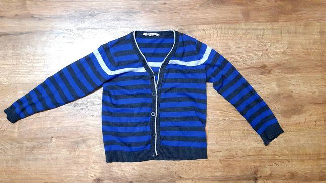 Sweter, sweterek rozpinany chłopięcy h&m 122/128