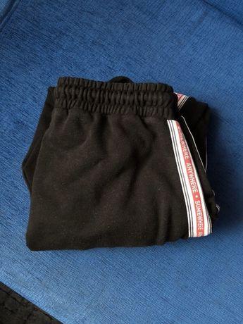 Spodnie dresowe dresy czarne pull&bear