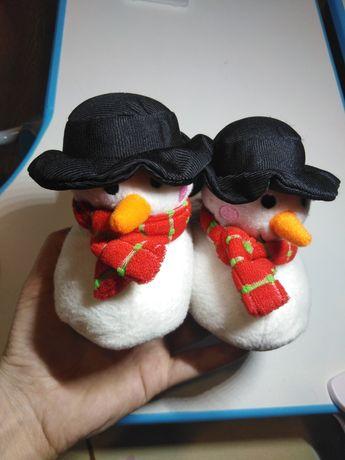 Тапки снеговички