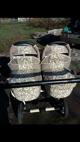 Продам коляску для двойни , близнецов 2в1