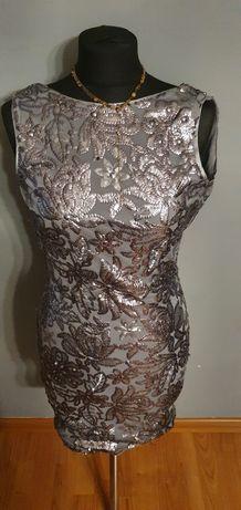 Sukienka z cyrkoniami