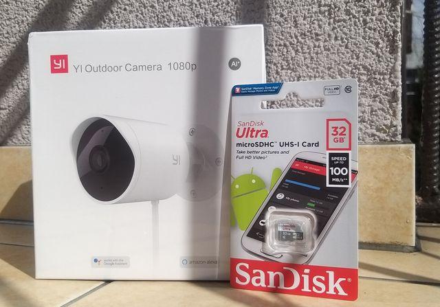 YI Outdoor Camera 1080p AI+ IP WiFi plus karta 32GB Kamera Zewnętrzna