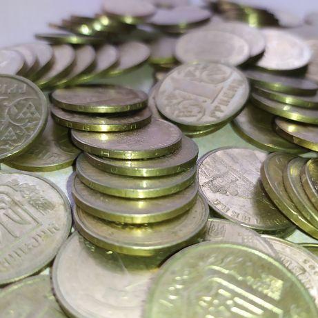 Монеты Украины 6 монет 1 гривна 2001.2002.2004.2005.2006.2010 года.Коп