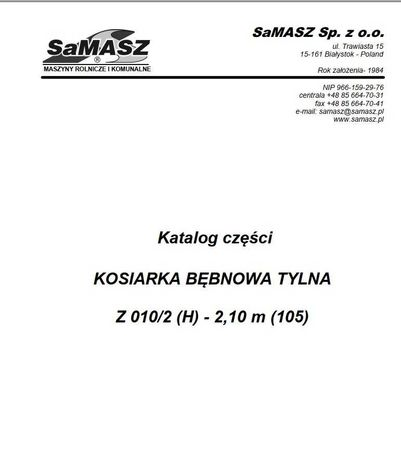 katalog części kosiarka rotacyjna Z 010