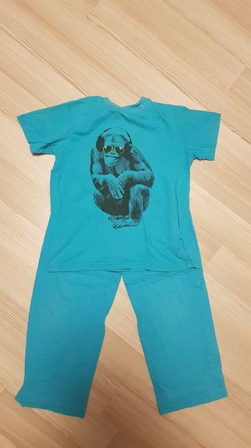 Piżama chłopięca z małpą NEXT rozmiar 134cm