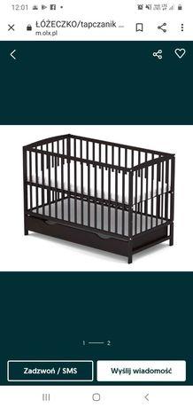 Łóżeczko niemowlęce z szufladą wenge