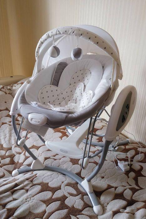 Укачивающий центр Graco Glider Elite Sprinkles, кресло-качалка Шепетовка - изображение 1