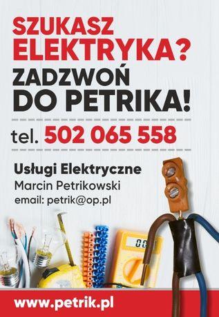 Usługi Elektryczne Marcin Petrikowski. Elektryk Starogard Gdański.