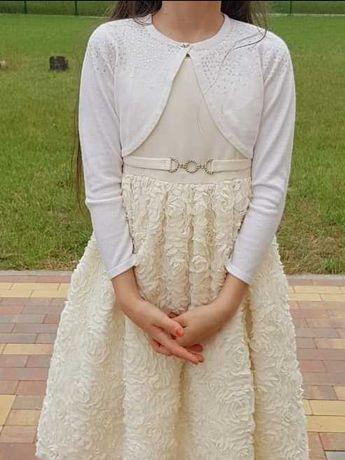 Sukienka wizytowa Cinderella+ bolerko M&S, 128-134 cm, stan b. dobry