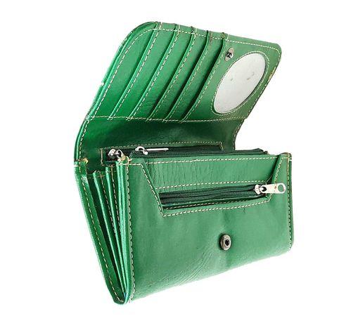 Portfel damski kolor zielony