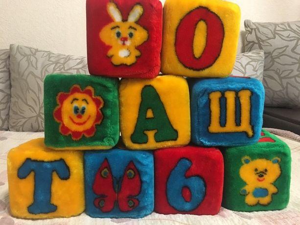 Продам розвивающие мягкие кубики