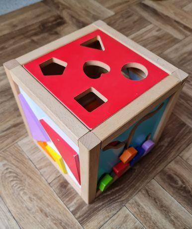 Sorter drewniany dla dzieci niemowląt różne zabawy