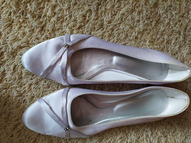 Buty ślubne 39 płaski obcas