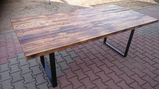 stół loft stare drewno
