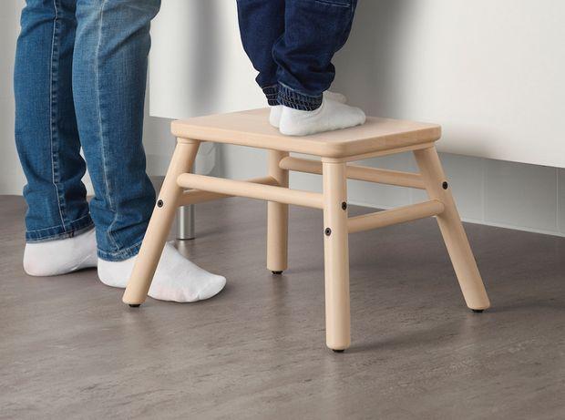 Ikea VILTO stołek ze schodkiem, brzoza 40x32 cm, wys. 25 cm