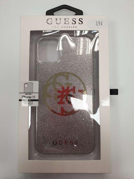 Etui GUESS iPhone 11 Circle Glitter 4G GUHCN61PCUGLLG