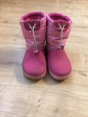 Зимние ботинки Crocs для девочки
