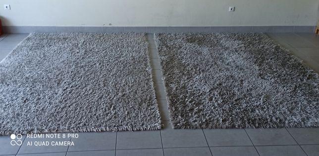 2 Carpetes laváveis quadre 2x3 prata +1 carpete rosa lavável 1.60x2.30