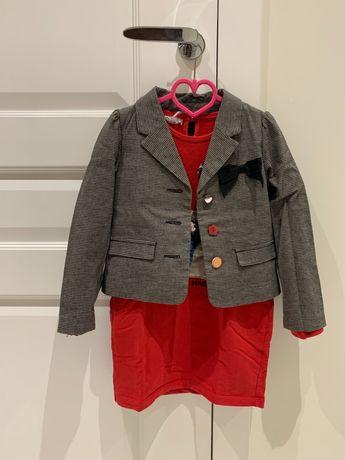 H&M, żakiecik,tunika, bluza, komplet, rozm. 116, dziewczynka