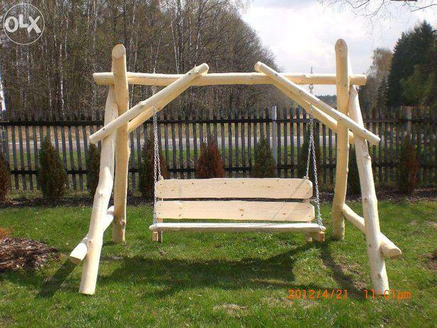 meble ogrodowe drewniane- Huśtawka