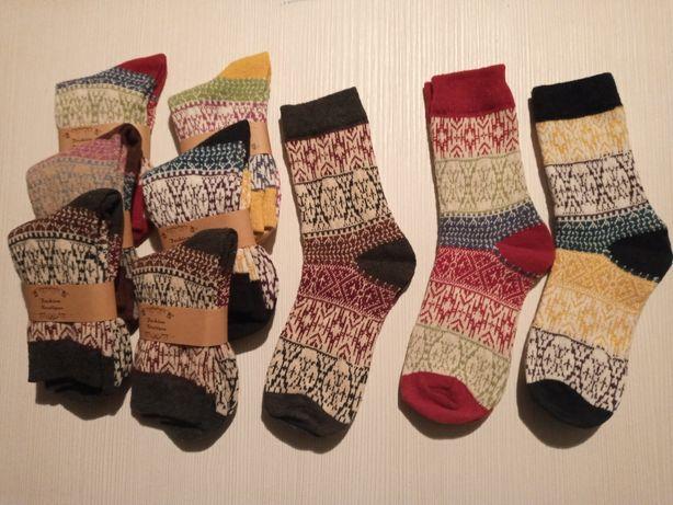Носки зимові теплі з етнічним малюнком