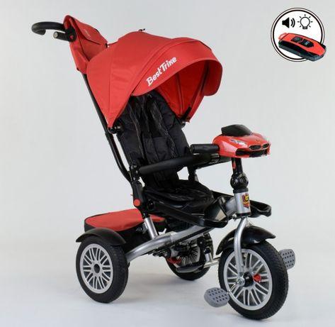 Трехколёсный велосипед коляска, надувные колёса, поворот сидения ровер