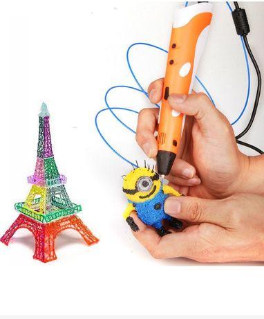 (ш) ЗD ручка 3d + пластик! Нарисуй машинку, куклу LOL, патруль, Lego!