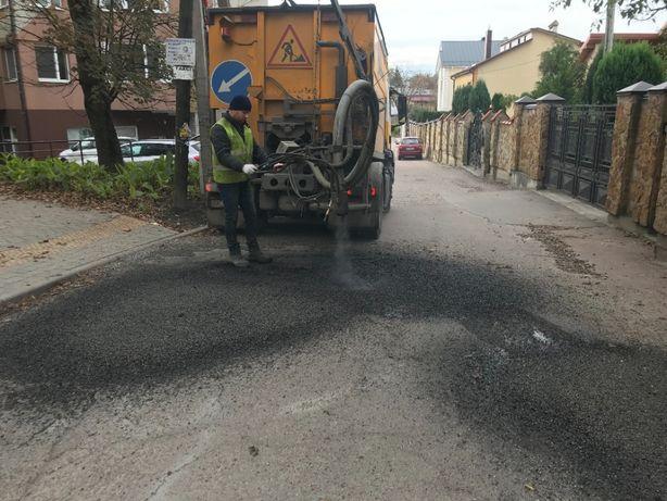 ремонтуємо дороги асфальт вибоїни ямкові ремонти каток Ямочный ремонт