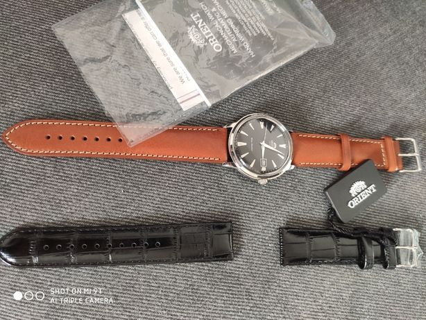 NOWY orient bambino czarny FAC00004B0 zegarek automtyczny pasek gratis