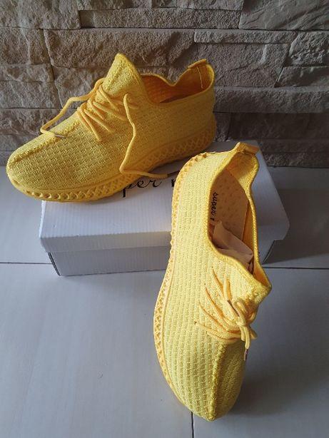 Żółte buty sportowe