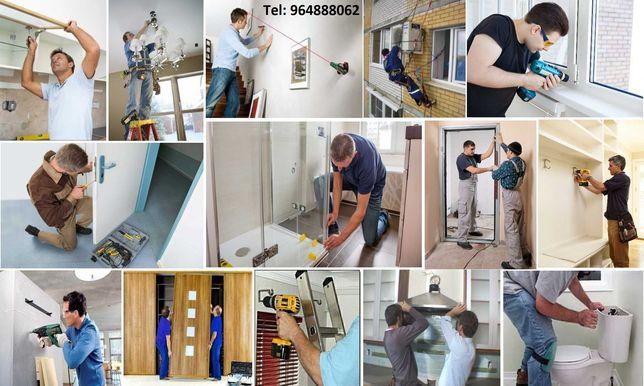 Instalações, Montagem móveis, aparelhos ou qualquer equipamentos!