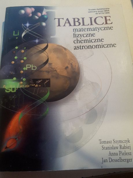 Tablice matematyczne, fizyczne, chemiczne, astronomiczne
