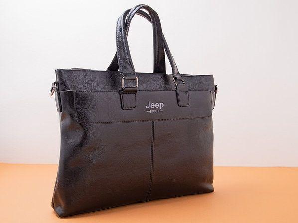 Сумка школьная для старшеклассников, портфель-сумка Jeep ЧЕРНАЯ
