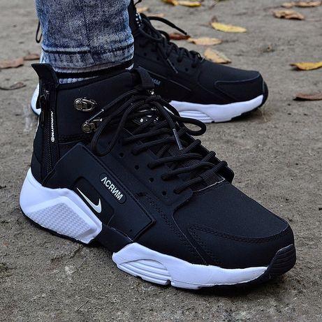 Мужские зимние ТЕРМО Кроссовки Nike Huarache X Acronym City Mid AAA+