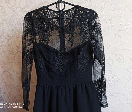 Платье черное шикарное от Missguided