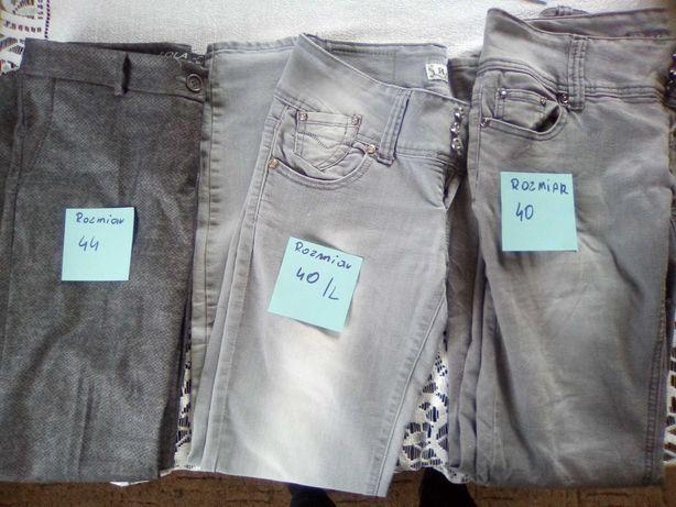 Spodnie dzins i material