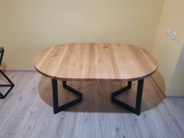 Stół dębowy rozkładany loft