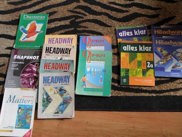 język niemiecki i angielski Headway Open doors i inne