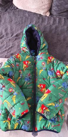 Nowa kurtka zimowa chłopięca dinozaury  r.134