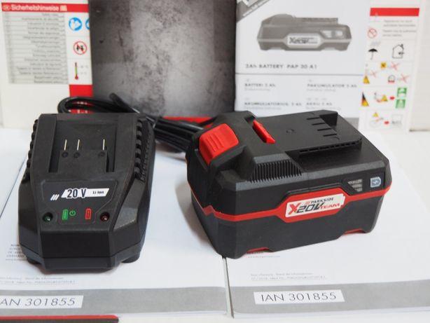 PARKSIDE akumulator 20v 4ah +ladowarka prostownik bateria