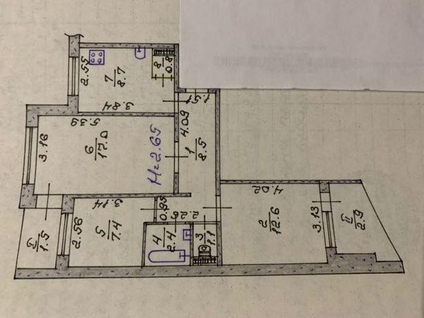 Продам 3х комнатную квартиру на Вечернем бульваре